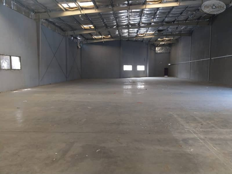 8000 square feet warehouse 80 KW power 8 meter height for rent in Qusais 3