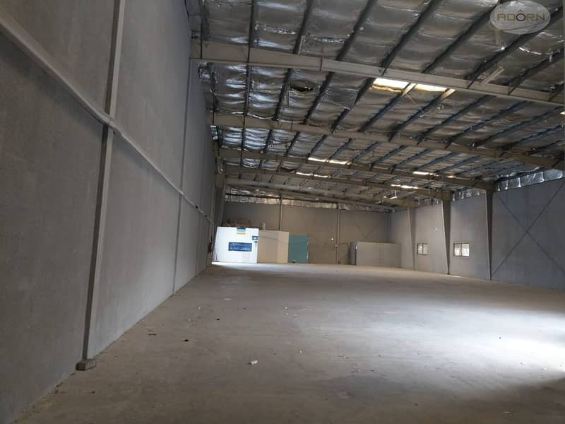 2 8000 square feet warehouse 80 KW power 8 meter height for rent in Qusais 3