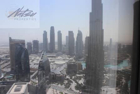 شقة 4 غرف نوم للايجار في وسط مدينة دبي، دبي - 4BR Fully Furnished l Burj Khalifa & Sea View