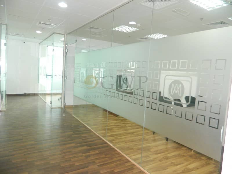 Glass Partitions| 1360 Sq.Ft.|Solid Wood flooring