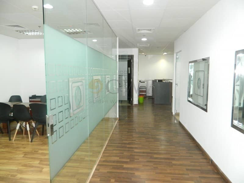 2 Glass Partitions| 1360 Sq.Ft.|Solid Wood flooring