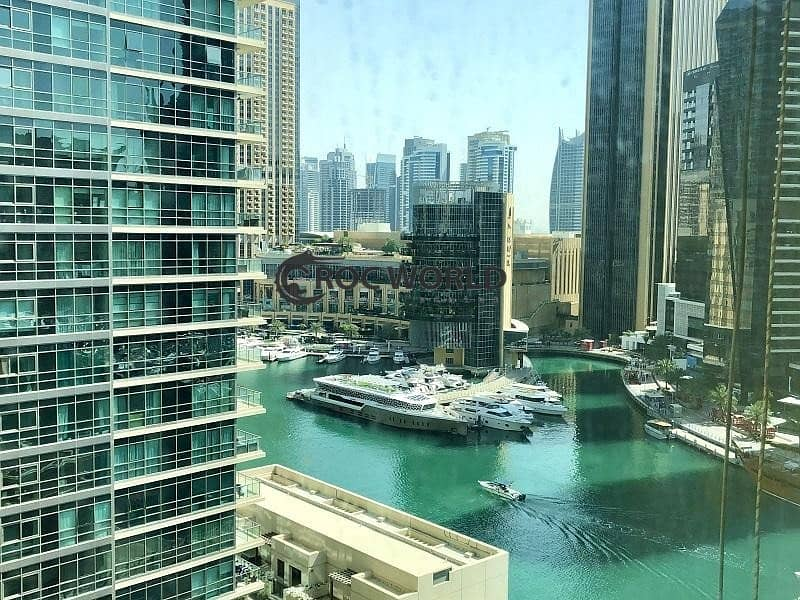 Chiller Free   Partially Furnished 1BR + Laundry   Marina View   Close to Dubai Tram