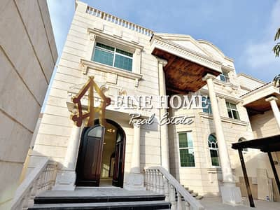 8 Bedroom Villa for Rent in Al Rawdah, Abu Dhabi - Stand-Alone 8MBR with Outside Kitchen/Driver Rm