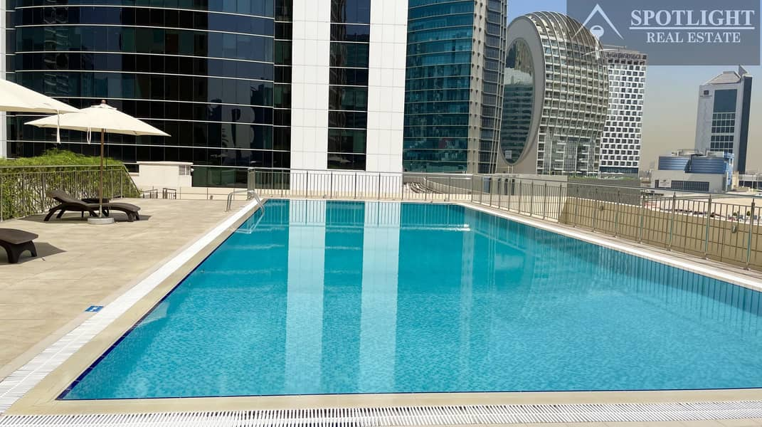 2 NO COMMISSION | 2 MONTHS FREE | 2 BEDROOM | CANAL & POOL VIEW | BUSINESS BAY | ONLY  79K