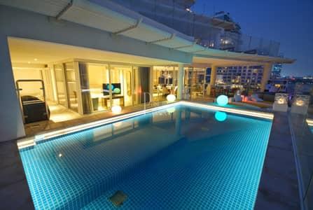 بنتهاوس 4 غرف نوم للبيع في نخلة جميرا، دبي - Vacant glamorous lifestyle penthouse with private Pool
