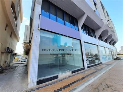 Shop for Rent in Defence Street, Abu Dhabi - Retail SHOP Space with High Visibility in Main Road | GF + Basement - 120 SQM  / 1,292 SQ FT