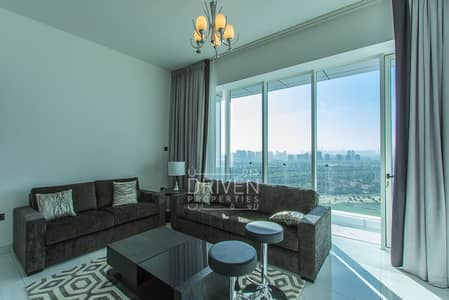 شقة 2 غرفة نوم للبيع في مدينة دبي الرياضية، دبي - Fully Furnished | High Floor | Golf View