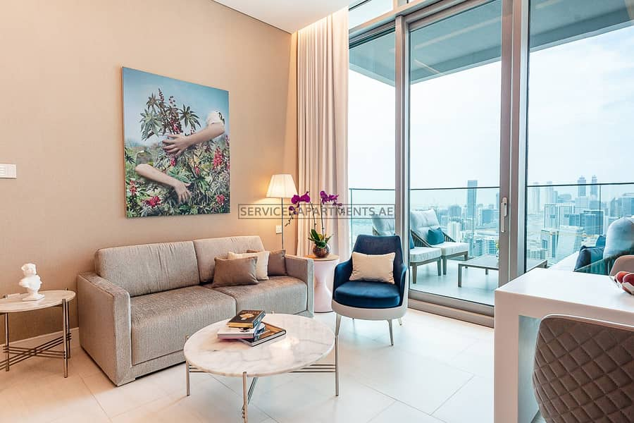 Furnished Urban Living Studio Serviced Apartment for Rent in SLS Dubai Hotel and Residences