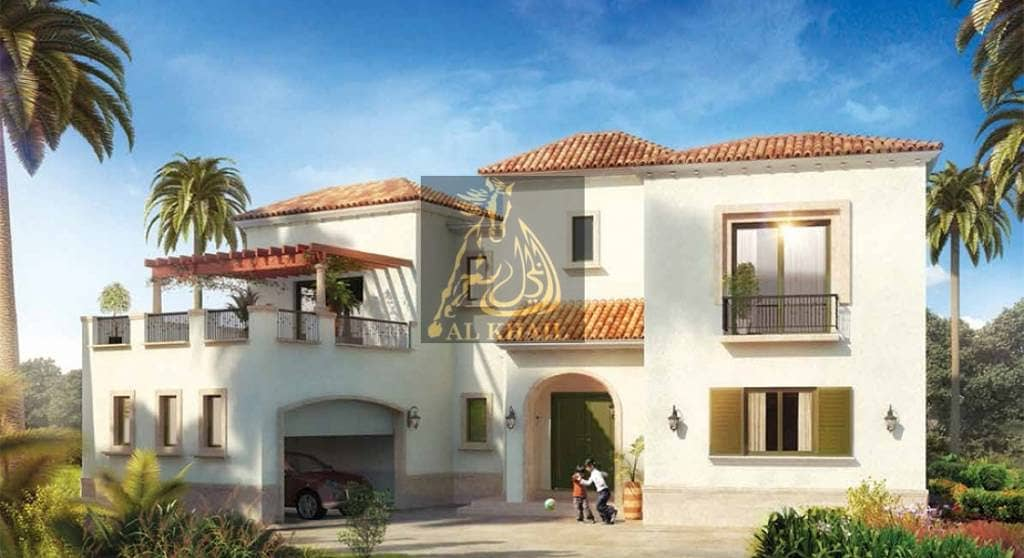 Ready 4BR Luxury Villa in Jumeirah Golf Estate  Furnished - Spanish Style