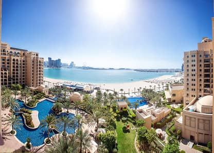 3 Bedroom Flat for Rent in Palm Jumeirah, Dubai - Royal 3BR+Maids | 5* Hotel Beach, 6 Pools | Full Sea View
