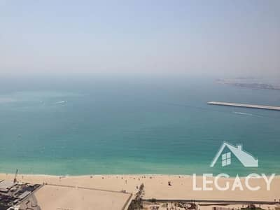 2 Bedroom Apartment for Rent in Jumeirah Beach Residence (JBR), Dubai - 100% Sea view from all rooms |  With Laundry room | High Floor