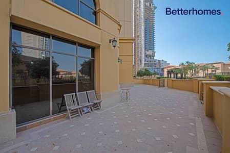 فلیٹ 1 غرفة نوم للبيع في جميرا بيتش ريزيدنس، دبي - 500 sq ft | Unfurnished | Large Terrance