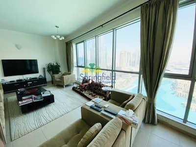 2 Bedroom Apartment for Rent in Downtown Dubai, Dubai - Burj Khalifa and Fountain View |Spacious Unit | 2 BR plus Maid