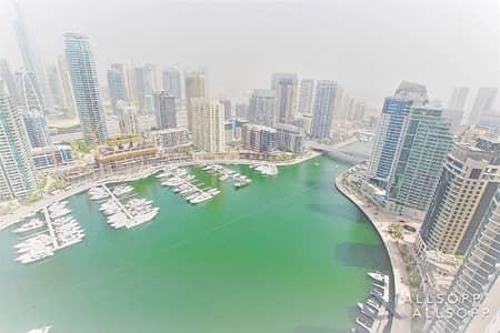 شقة 2 غرفة نوم للايجار في دبي مارينا، دبي - Two Bedrooms | High Floor | Marina Views