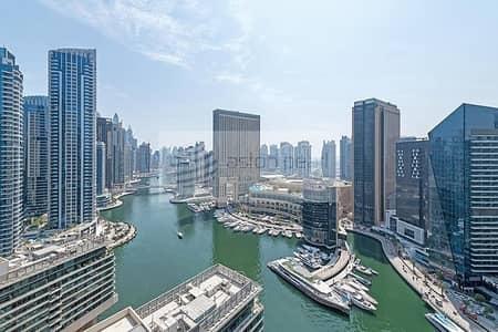 شقة 2 غرفة نوم للايجار في دبي مارينا، دبي - Full Marina View | Huge Balcony | Unfurnished |2BR