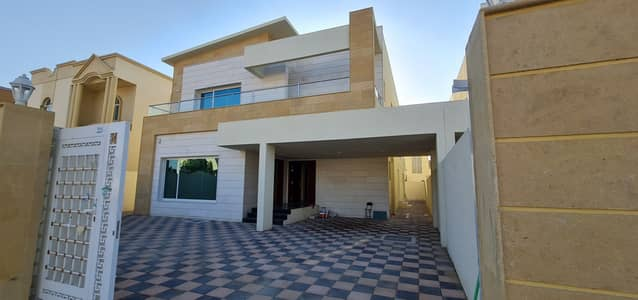 Amazing offer Brand New 5 bedroom villa Modern design with luxury finishing for sale   freehold for all nationalities   Close to all services in Al Rawda Ajman
