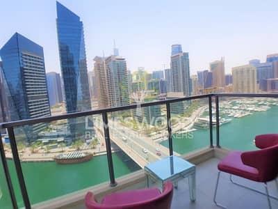 2 Bedroom Flat for Rent in Dubai Marina, Dubai - Panoramic Marina View | Large Layout En suite 2 BR