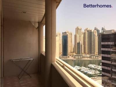 شقة 1 غرفة نوم للبيع في دبي مارينا، دبي - Marina View | Unfurnished | Vacant | Mid Floor