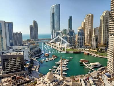 1 Bedroom Apartment for Rent in Dubai Marina, Dubai - Full Marina View / Multiple Chqs