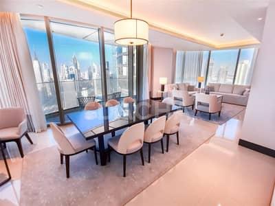شقة 4 غرف نوم للايجار في وسط مدينة دبي، دبي - High-end / Sky View / 4+Maid