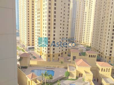 Studio for Rent in Jumeirah Beach Residence (JBR), Dubai - Large and Cozy Studio | Partial Marina View