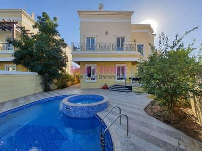 فیلا 4 غرف نوم للبيع في ذا فيلا، دبي - Furnished 4 BR Plus 3 rooms on Roof Custom  Villa | Swimming Pool |Landscape Garden