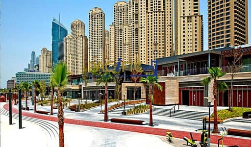 1 Bedroom Flat for Rent in Jumeirah Beach Residence (JBR), Dubai - Fully Furnished  | Full Marina View  |  With Balcony
