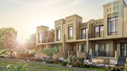 3 Bedroom Townhouse for Sale in Akoya Oxygen, Dubai - Off plan Townhouse with good rooms sizes in Akoya