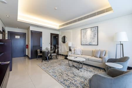 1 Bedroom Apartment for Rent in Downtown Dubai, Dubai - Furnished | Serviced Unit with Burj View