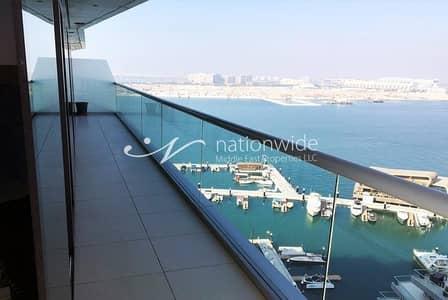 شقة 2 غرفة نوم للايجار في شاطئ الراحة، أبوظبي - Waking To Breathtaking Water And Tranquil Views