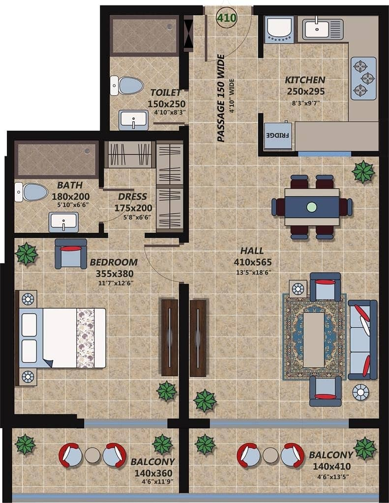 2 Investor deal 1-br  hall with balcony only in 490k