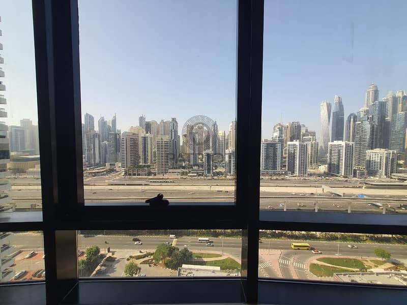 14 Lovely Bright Apartment | SZR and Marina View | Well Maintained | Chiller with Dewa