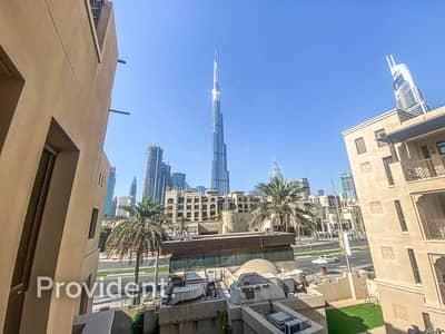 فلیٹ 1 غرفة نوم للايجار في المدينة القديمة، دبي - Burj Khalifa View   Low Apartment   1 Bed + Study