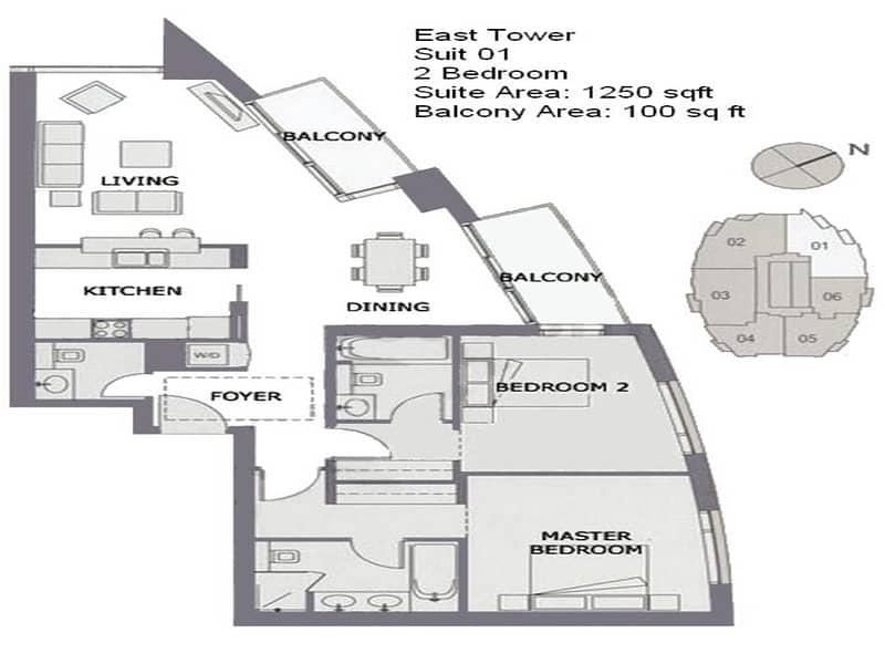 14 Burj Khalifa View | Best Price | Fitted Kitchen