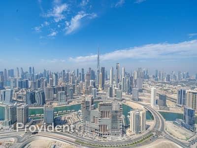 فلیٹ 2 غرفة نوم للايجار في الخليج التجاري، دبي - Burj Khalifa View