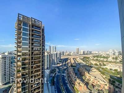 2 Bedroom Apartment for Rent in Dubai Sports City, Dubai - High Floor | City View | Bright Unit