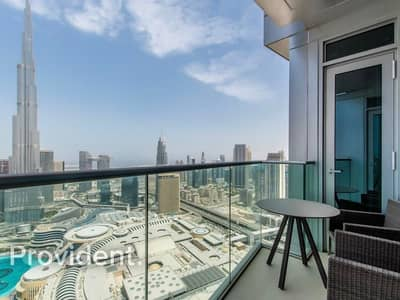 3 Bedroom Apartment for Rent in Downtown Dubai, Dubai - Sky Collection | High Floor | Full Burj View