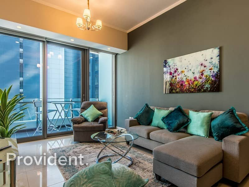 Modern Style - Furnished 2 Bedroom - Marina View