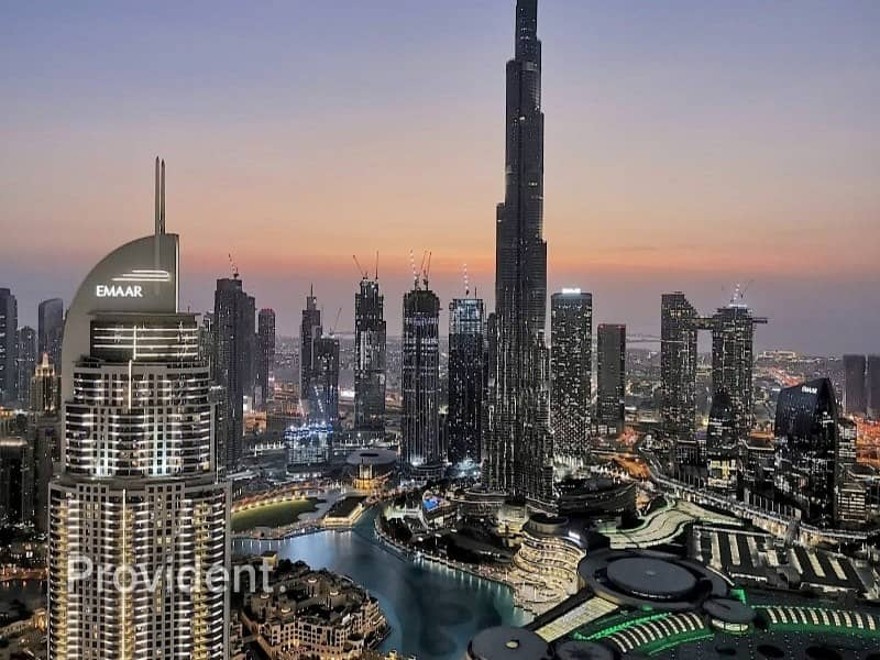 High Floor   Furnished   Burj and Downtown Views