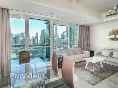 شقة 2 غرفة نوم للايجار في دبي مارينا، دبي - All Bills Included | Fully Furnished | Marina View