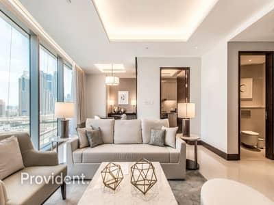 شقة 1 غرفة نوم للايجار في وسط مدينة دبي، دبي - Fully Serviced and Furnished   Sea View