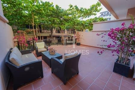 شقة 1 غرفة نوم للايجار في نخلة جميرا، دبي - Enormous Terrace | Lagoon Level | Private
