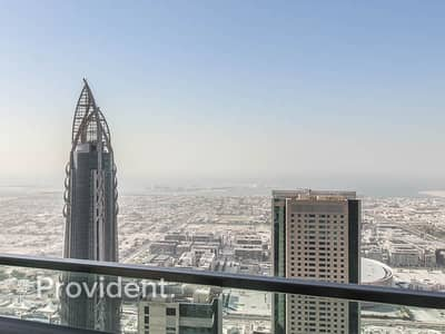 2 Bedroom Apartment for Rent in Downtown Dubai, Dubai - High Floor | Ocean Views | Available 15th April