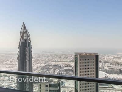 شقة 2 غرفة نوم للايجار في وسط مدينة دبي، دبي - High Floor | Ocean Views | Available 15th April