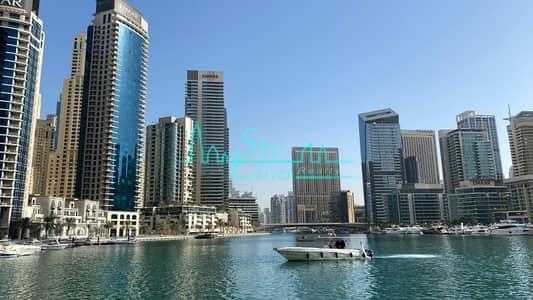 شقة 3 غرف نوم للايجار في دبي مارينا، دبي - Full Marina View 3BR Near Beach and Tram