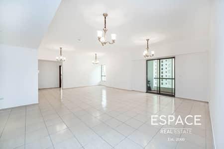 شقة 4 غرف نوم للايجار في جميرا بيتش ريزيدنس، دبي - Spacious | Marina View | Unfurnished | Available Now