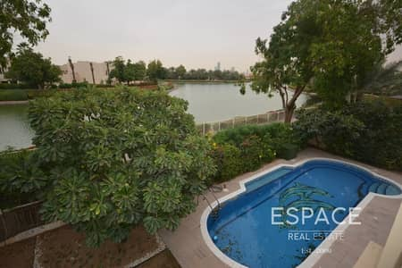 5 Bedroom Villa for Rent in The Meadows, Dubai - Private Pool | Lake View | Large Layout