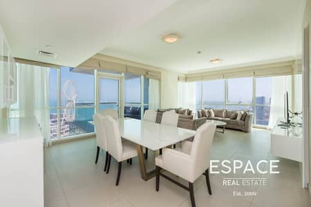 4 Bedroom Apartment for Rent in Jumeirah Beach Residence (JBR), Dubai - Furnished | Great Facilities | Next to the Beach