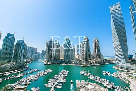 3 Bedroom Apartment for Sale in Dubai Marina, Dubai - Full Marina View|Vacant|Upgraded|Middle Floor