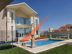 april offers ! luxury Villa adorable design personal finishing  High quality stone for sale in the most Elegant area in ajman